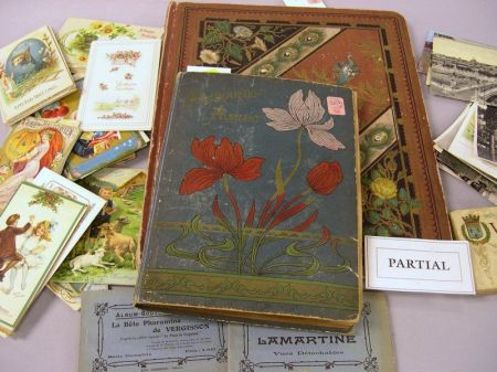 Six Victorian Scrap Albums and a Small Collection of Postcards