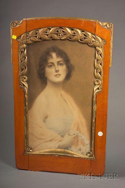 Art Nouveau Chromolithograph of a Young Beauty
