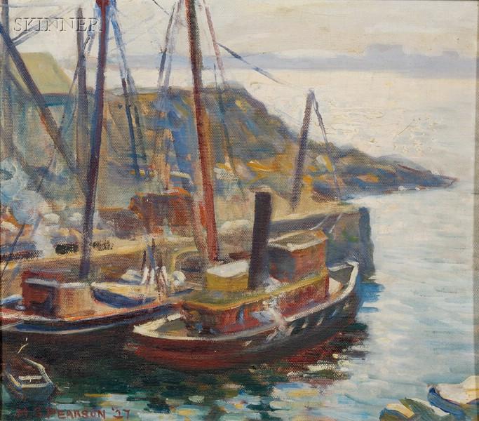 Marguerite Stuber Pearson (American, 1898-1978)      Quarry Dock, Rockport