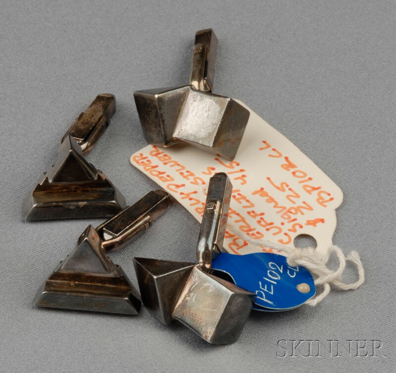 Two Pairs of Silver Cuff Links, Beverly Pepper