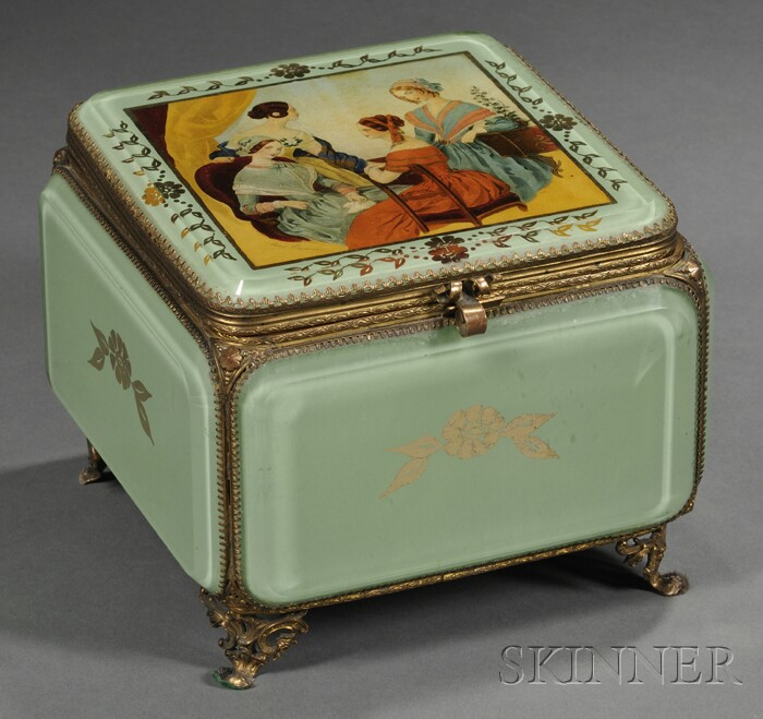 Decoupage and Reverse-decorated Jewel Casket