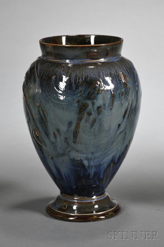 Royal Doulton Glazed Stoneware Mermaid Vase