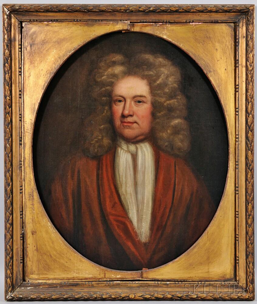 British School, 18th Century      Portrait of a Gentleman in a Powdered Wig