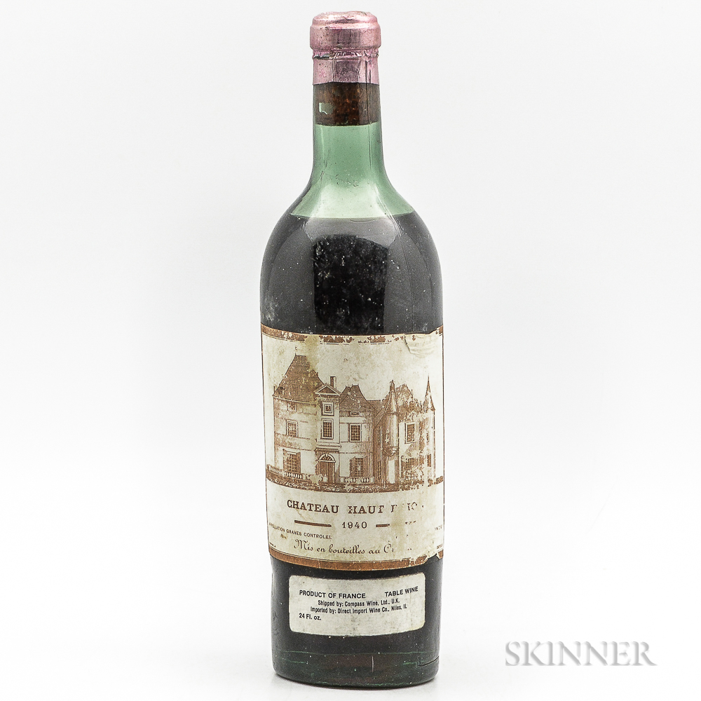 Chateau Haut Brion 1940, 1 bottle