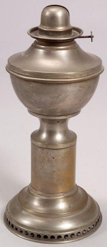 Nickel-plated Brass Hitchcock Mechanical Draft Lamp