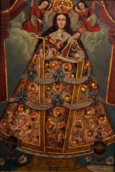 Spanish Colonial School, 19th Century    Queen of Heaven