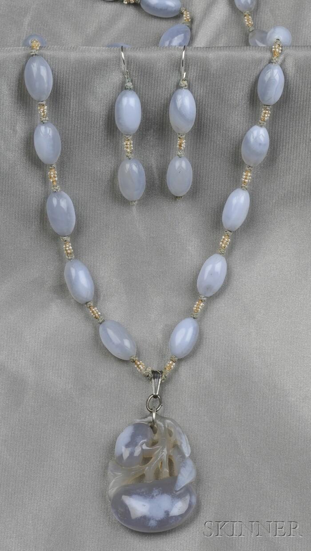 Blue Lace Agate Pendant/Necklace