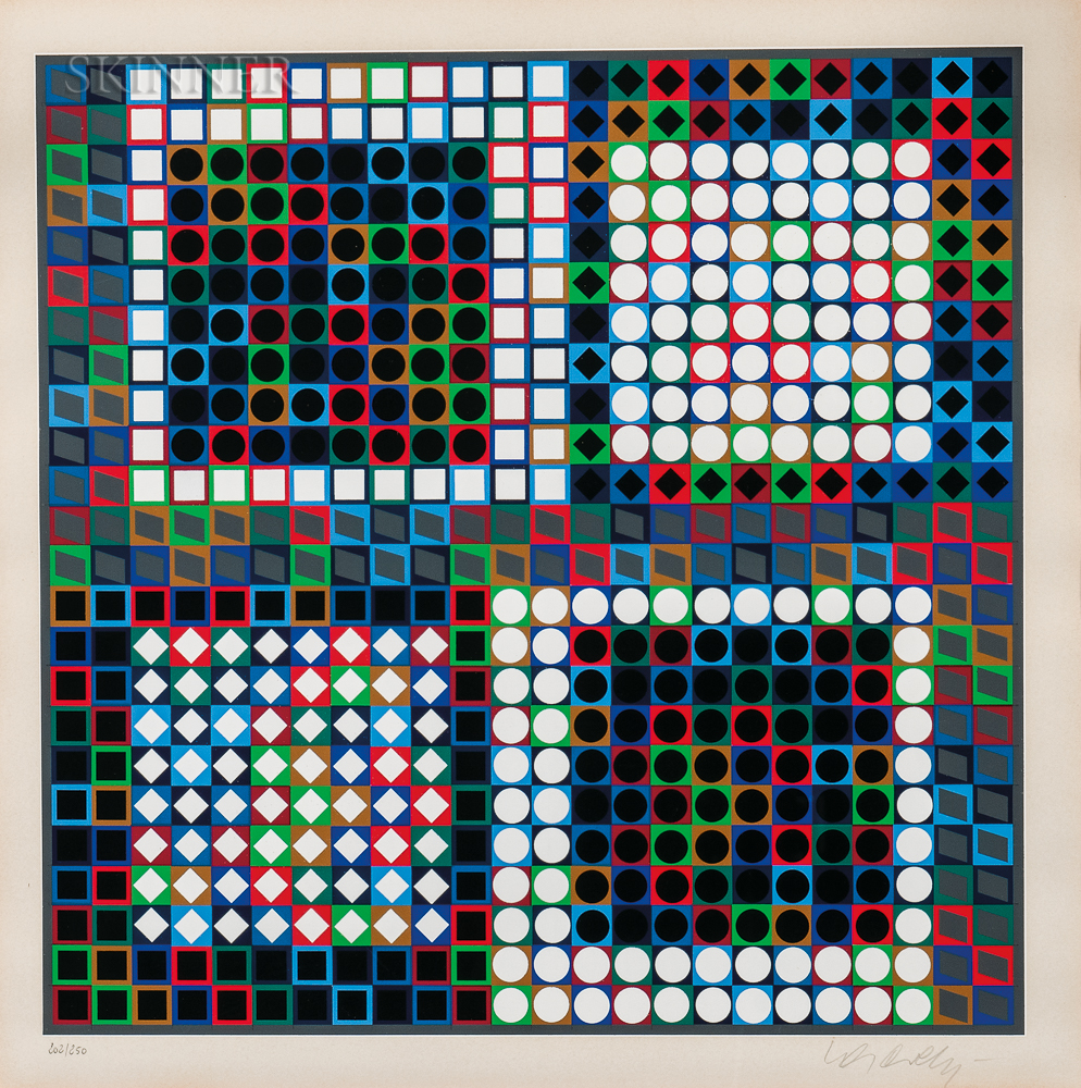 Victor Vasarely (Hungarian/French, 1906-1997)      Our-MC-2
