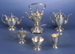 Durgin Sterling Classical Revival Five-Piece Tea and Coffee Service