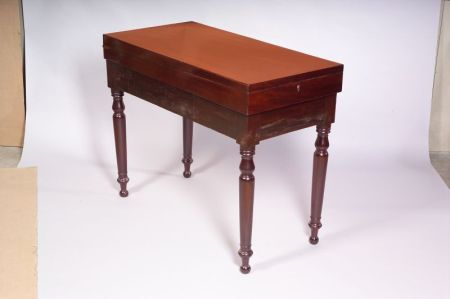 Early Victorian Mahogany Bagatelle Table and Stand