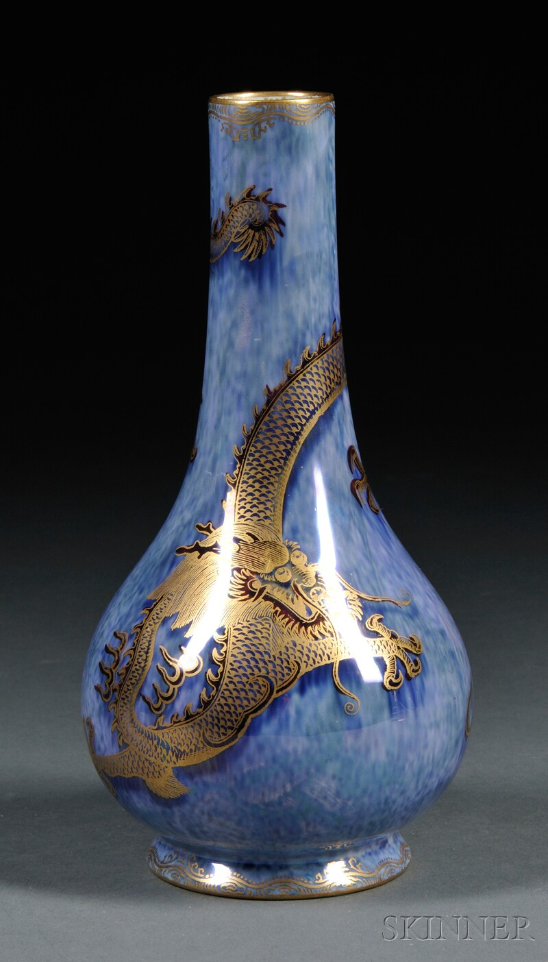 Wedgwood Blue Dragon Lustre Vase