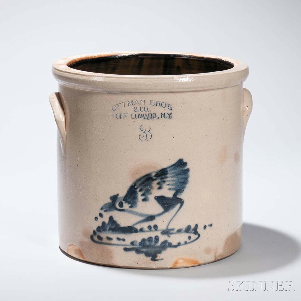 Ottman Brothers & Company Stoneware Crock