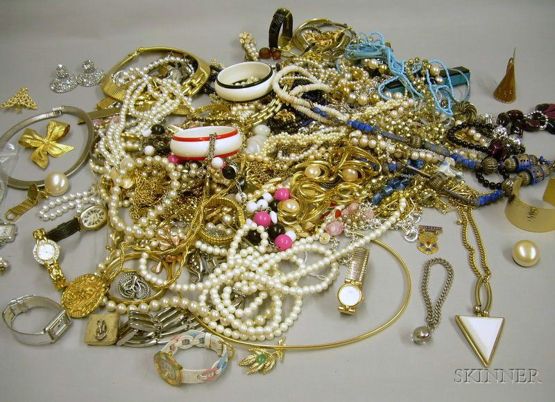 Large Group of Assorted Costume Jewelry and Fashion Watches.