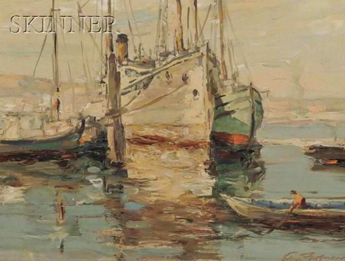 Edgar Forkner (American, 1867-1945)      Dockside, Seattle