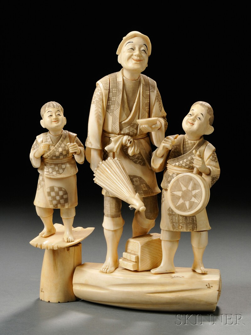 Ivory Group Carving