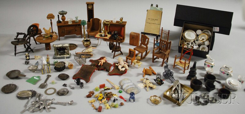 Group of Doll House Furniture and Accessories