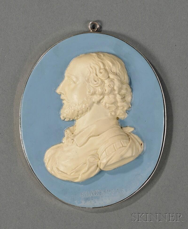 Wedgwood & Bentley Solid Blue Jasper Portrait Medallion