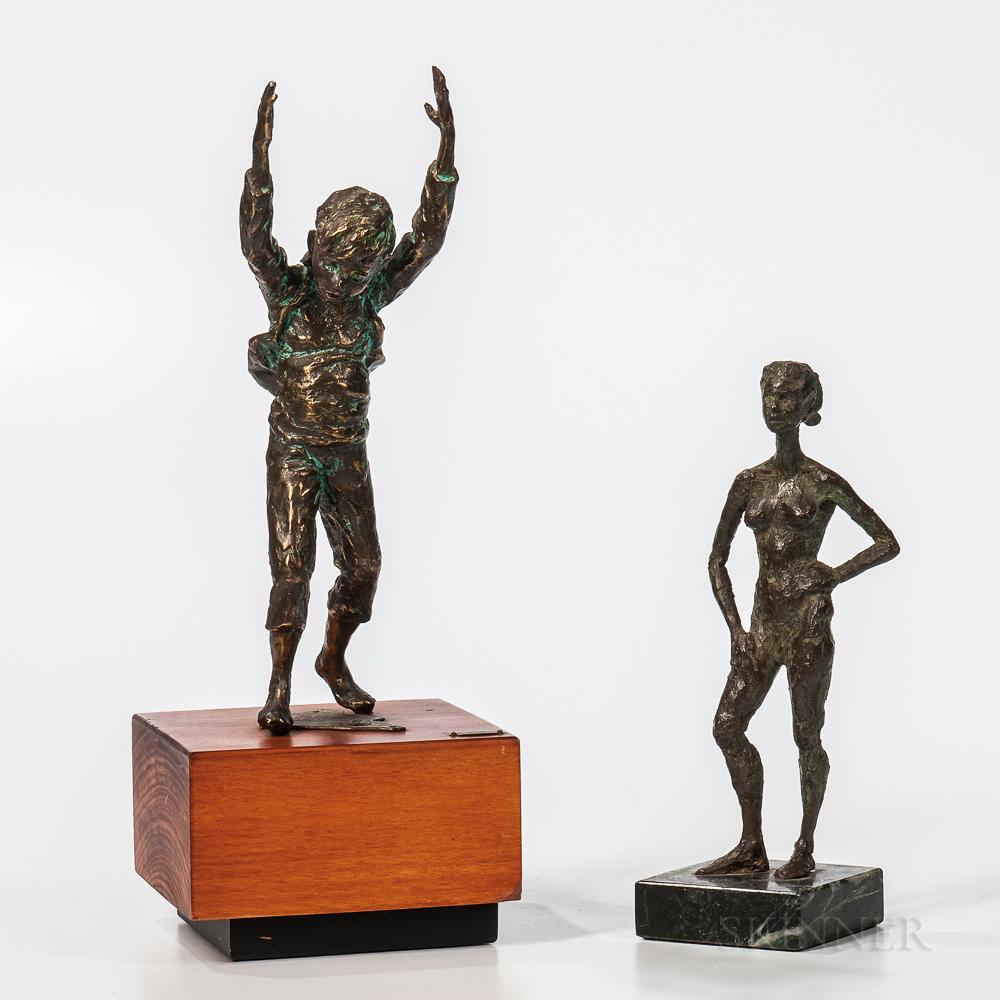 Two Bronze Sculptures