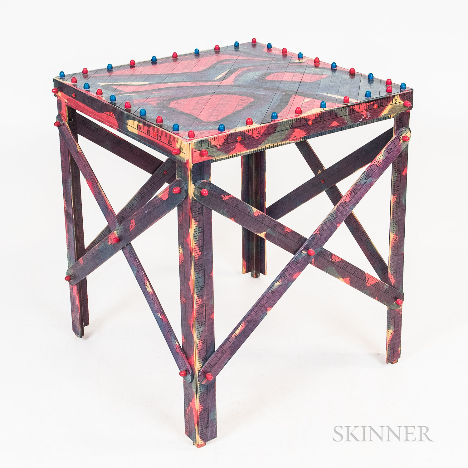 John Marcoux (American, 20th Century)      Ruler Side Table