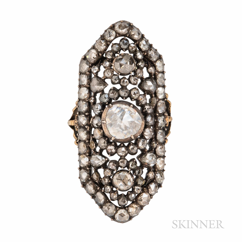 Antique Rose-cut Diamond Ring