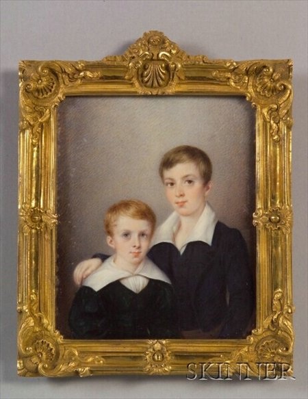 Portrait Miniature of Two Brothers