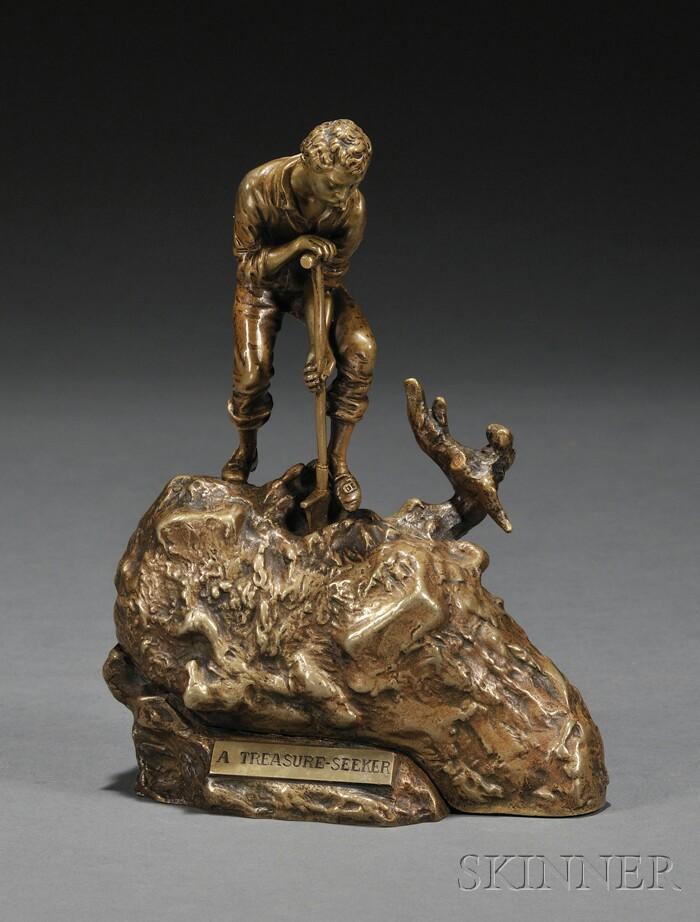 Carl Kauba (American/Austrian, 1865-1922),      A Treasure-Seeker