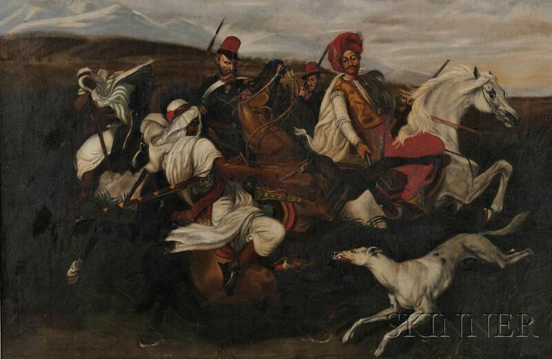 Continental School, 19th Century      Orientalist Cavalry Scene