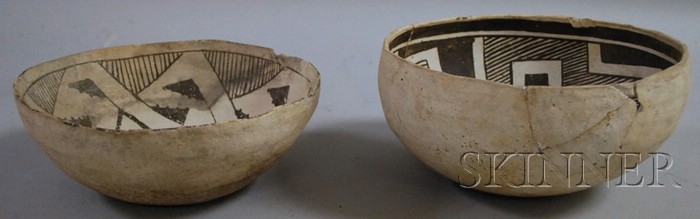 Two Anasazi Pottery Bowls