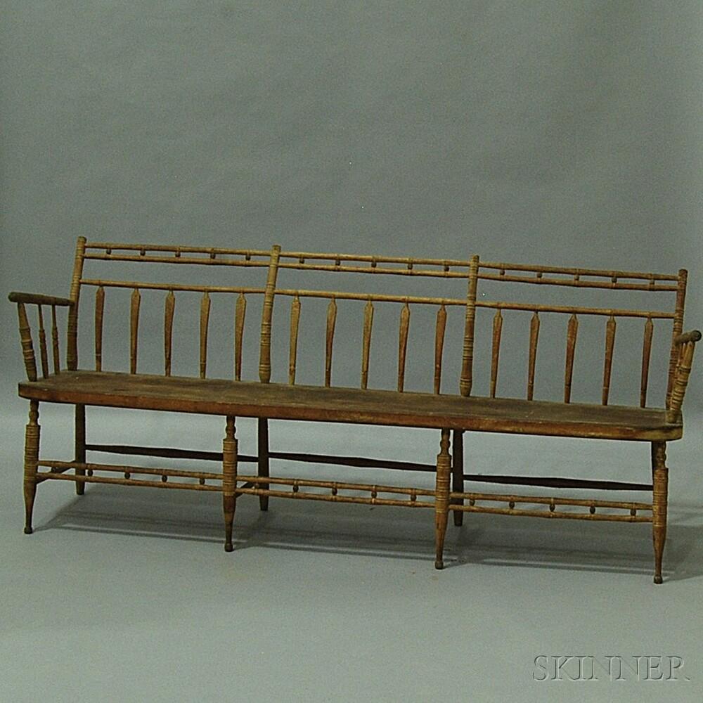 Bamboo-turned Windsor Settle