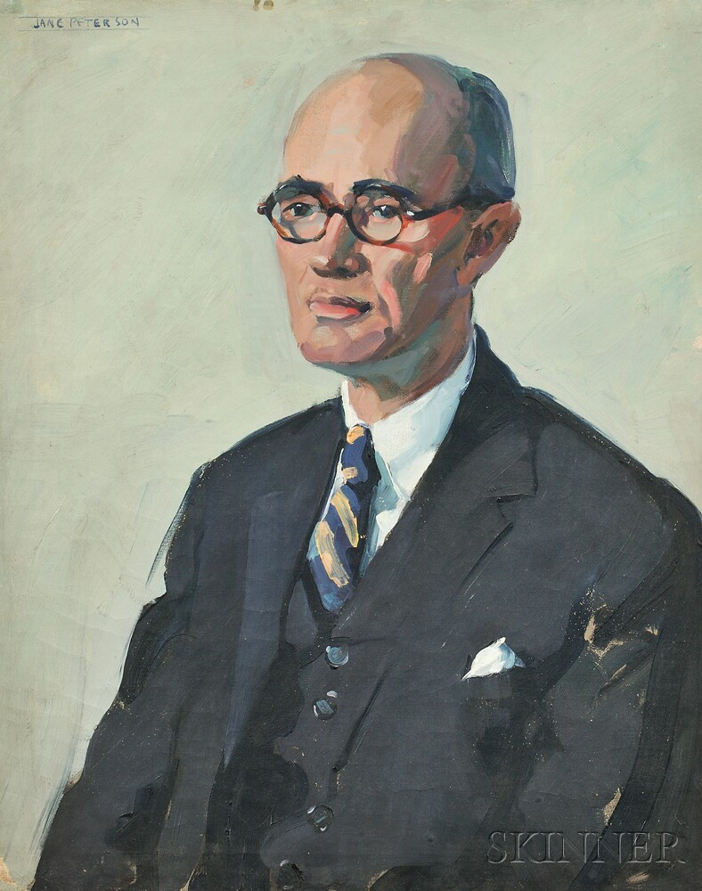Jane Peterson (American, 1876-1965)      Portrait of a Gentleman, Possibly a Banker