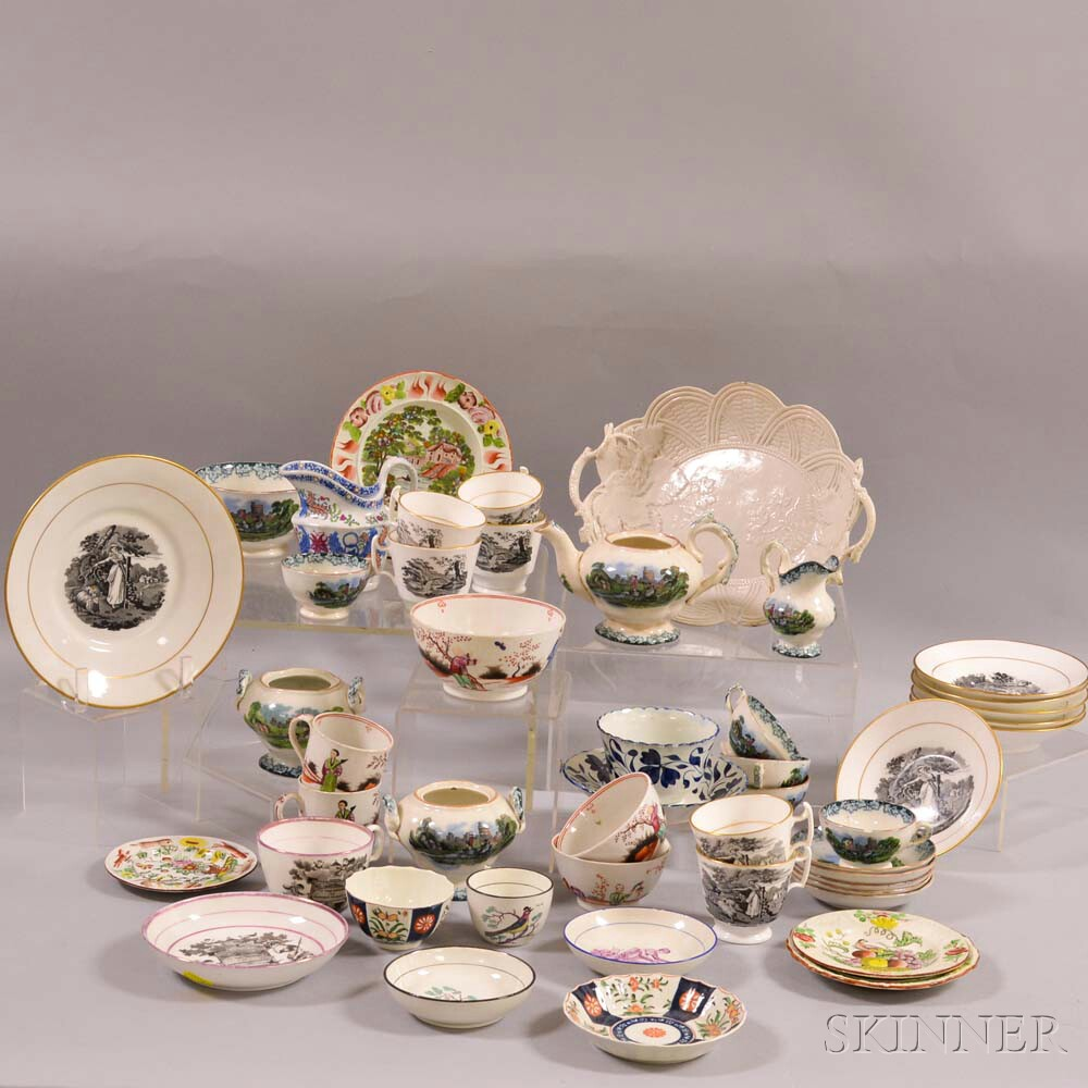 Approximately Forty-nine Pieces of Mostly English Ceramic Tableware