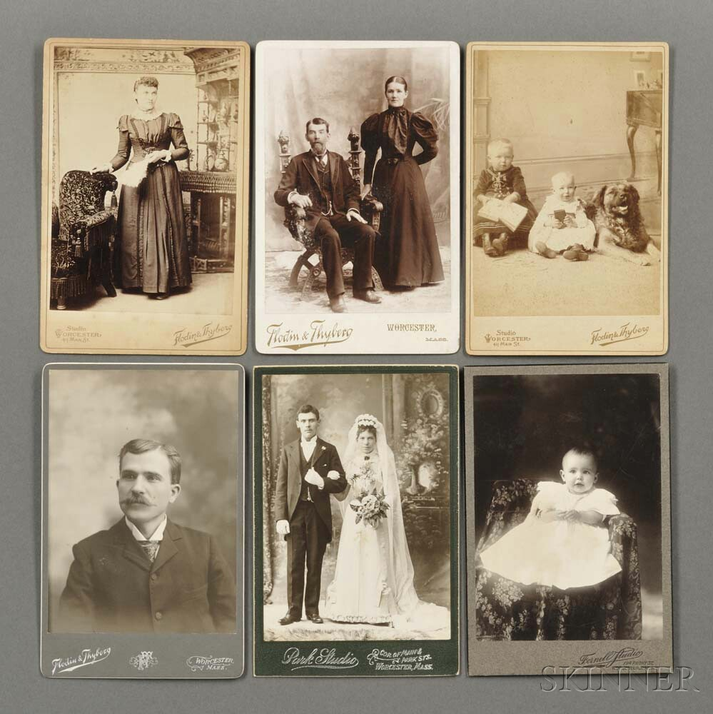Cabinet Cards, Carte-de-visites, and Engravings