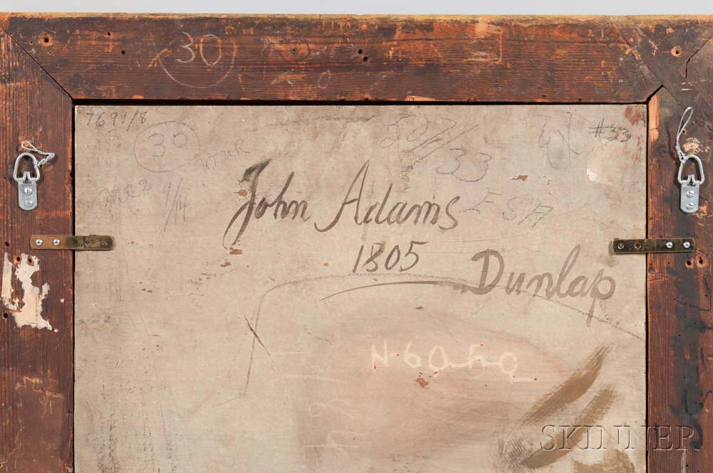 William Dunlap (New Jersey/New York/England, 1766-1839)      Portrait of John Adams