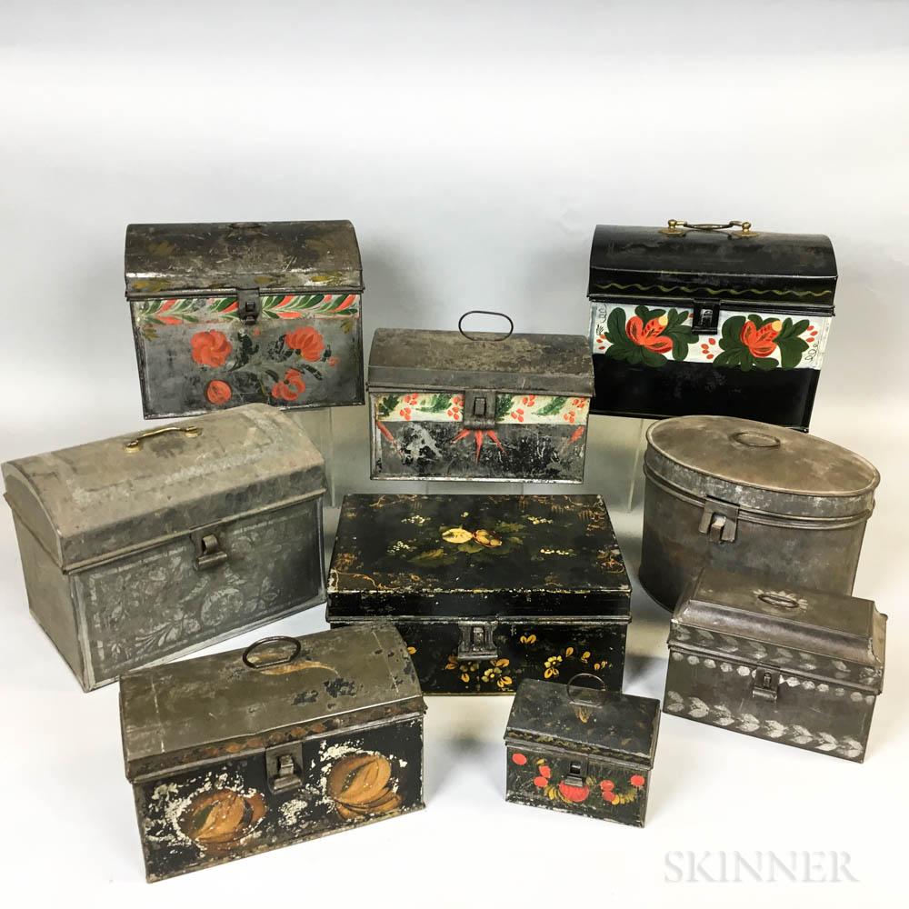 Nine Tole Document Boxes