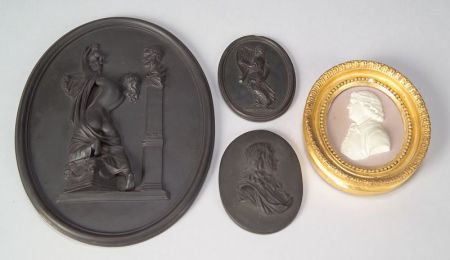 Four Wedgwood Oval Plaques