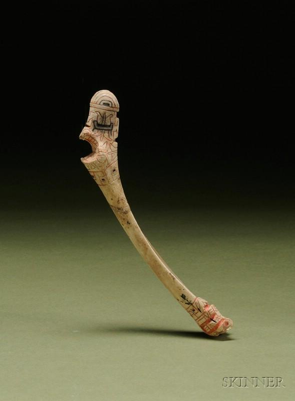 Pre-Columbian Incised Bone Staff