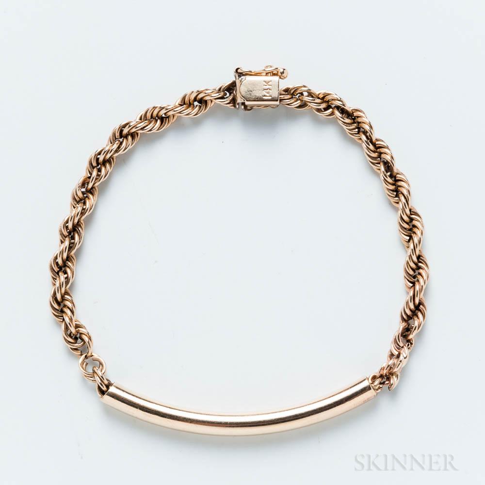 14kt Gold Rope Bracelet