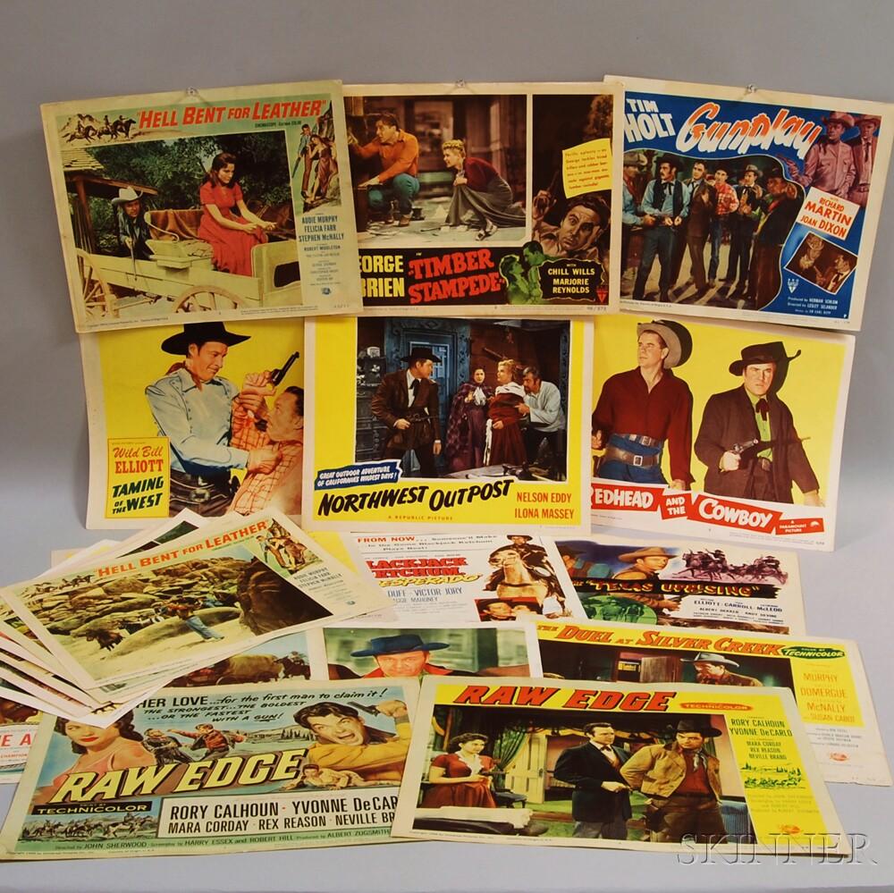 Approximately Twenty B-Western Movie Lobby Cards