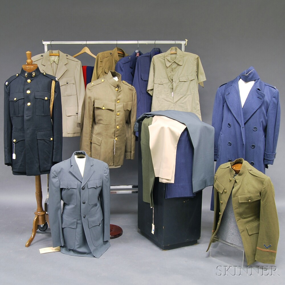 Assorted Group of Mostly WWII UniformsAssorted Group of Mostly WWII Uniforms