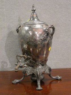 Victorian Rococo Silver Plated Hot Water Urn.