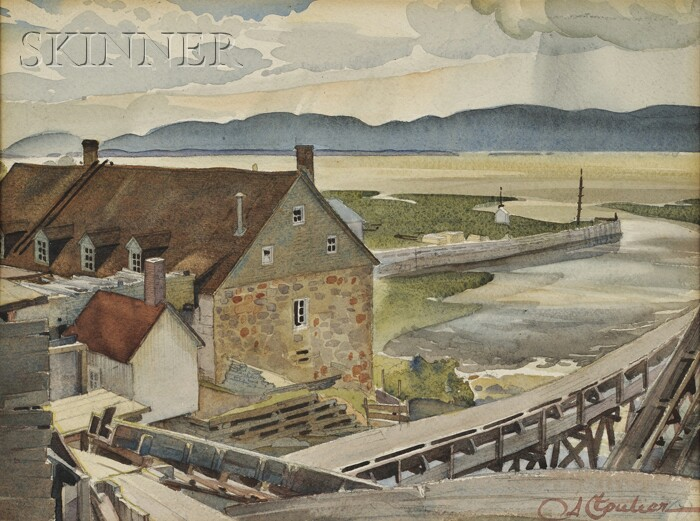 Albert Edward Cloutier, R.C.A. (Canadian, 1902-1965)      Moulin de Gaspé