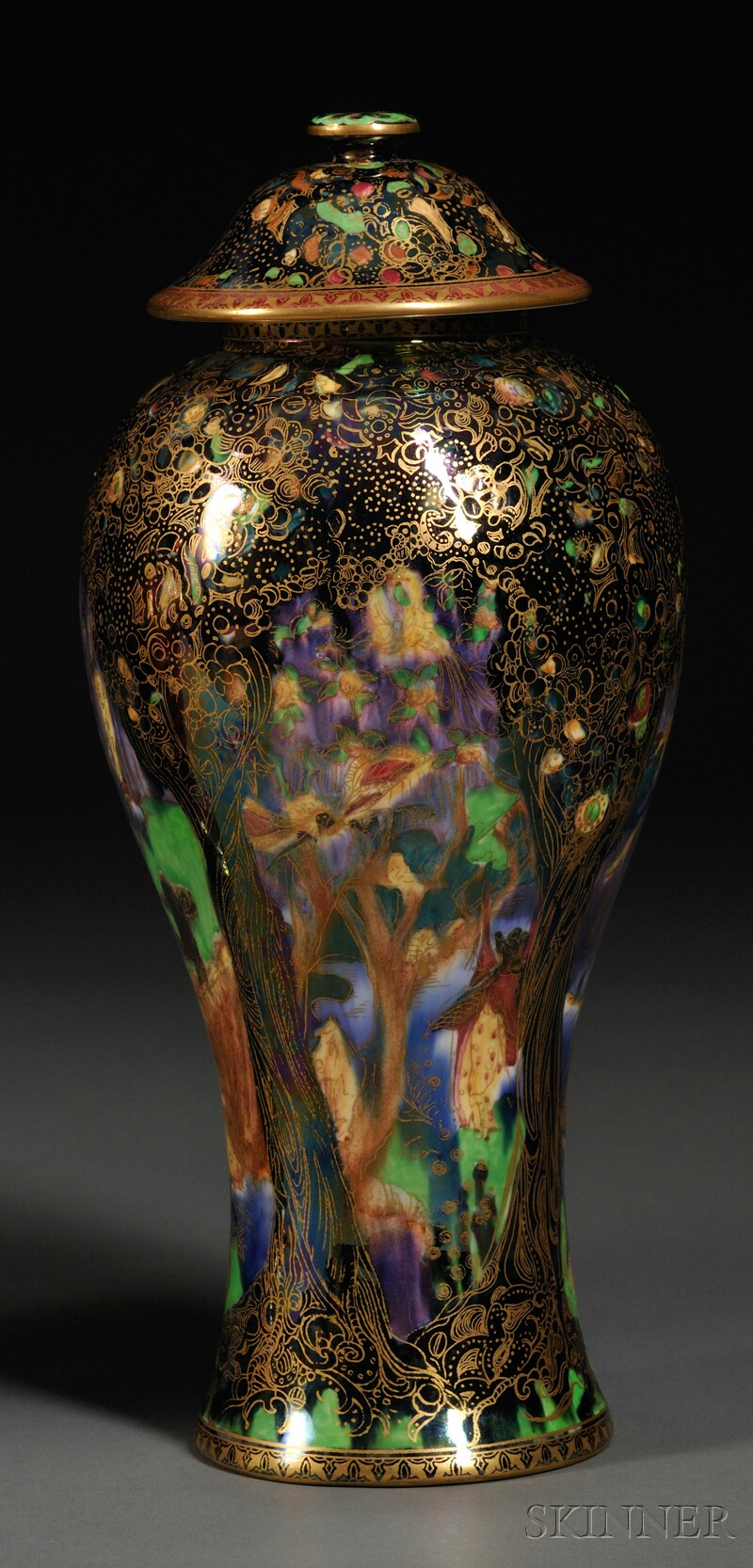 Wedgwood Fairyland Lustre Vase and Cover