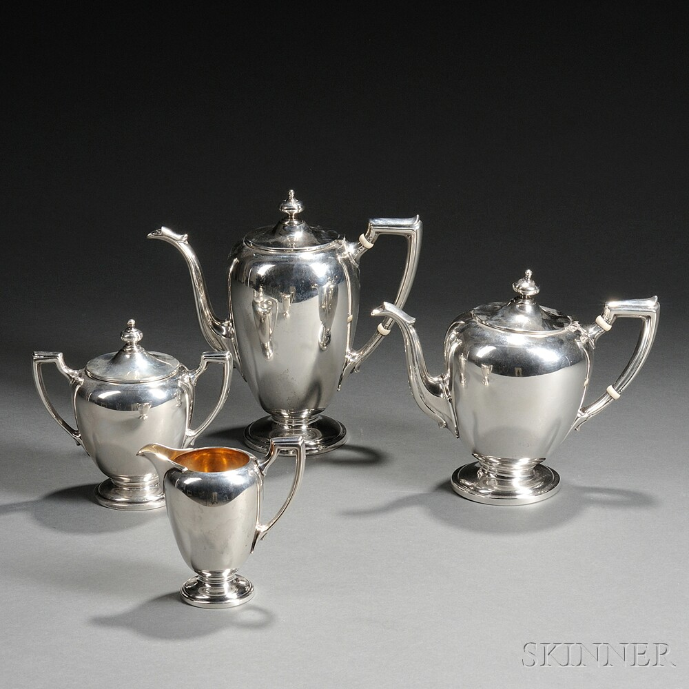 Four-piece Reed & Barton Sterling Silver Tea and Coffee Service