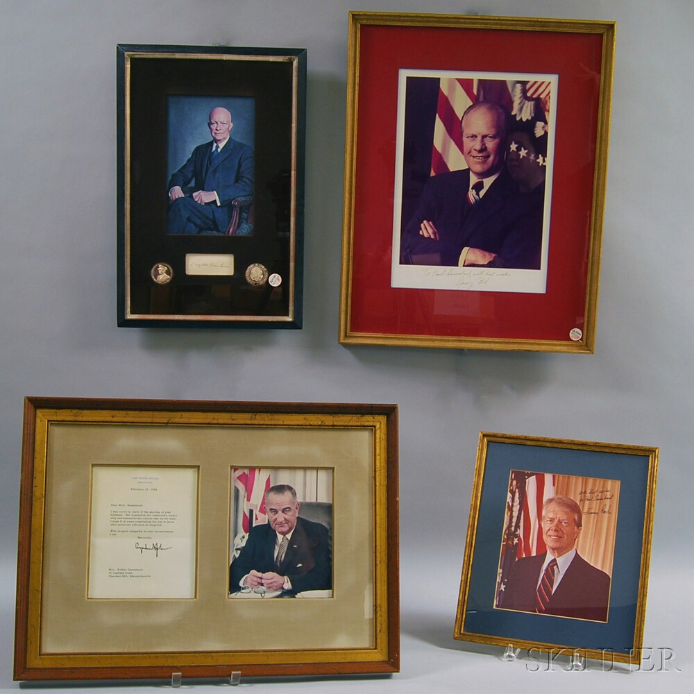 Signatures, Portraits: Jimmy Carter, Gerald Ford, Lyndon B. Johnson, and Eisenhower.