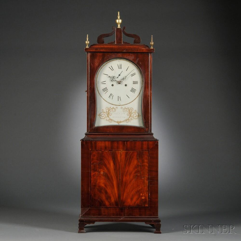 Asa Hall Mahogany Shelf Clock