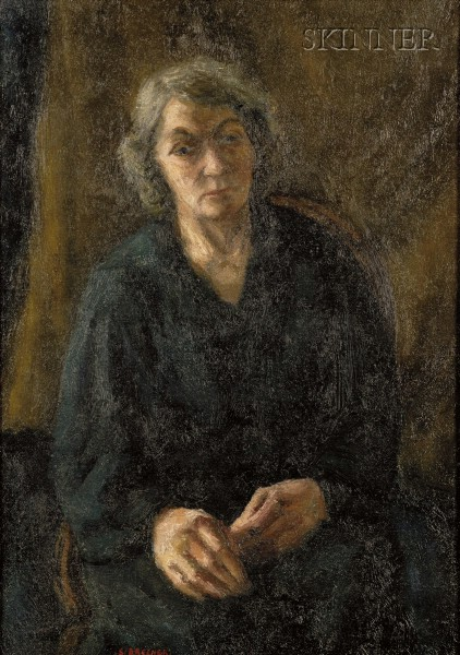 Samuel Brecher (American, 1897-1982)      Woman in Black