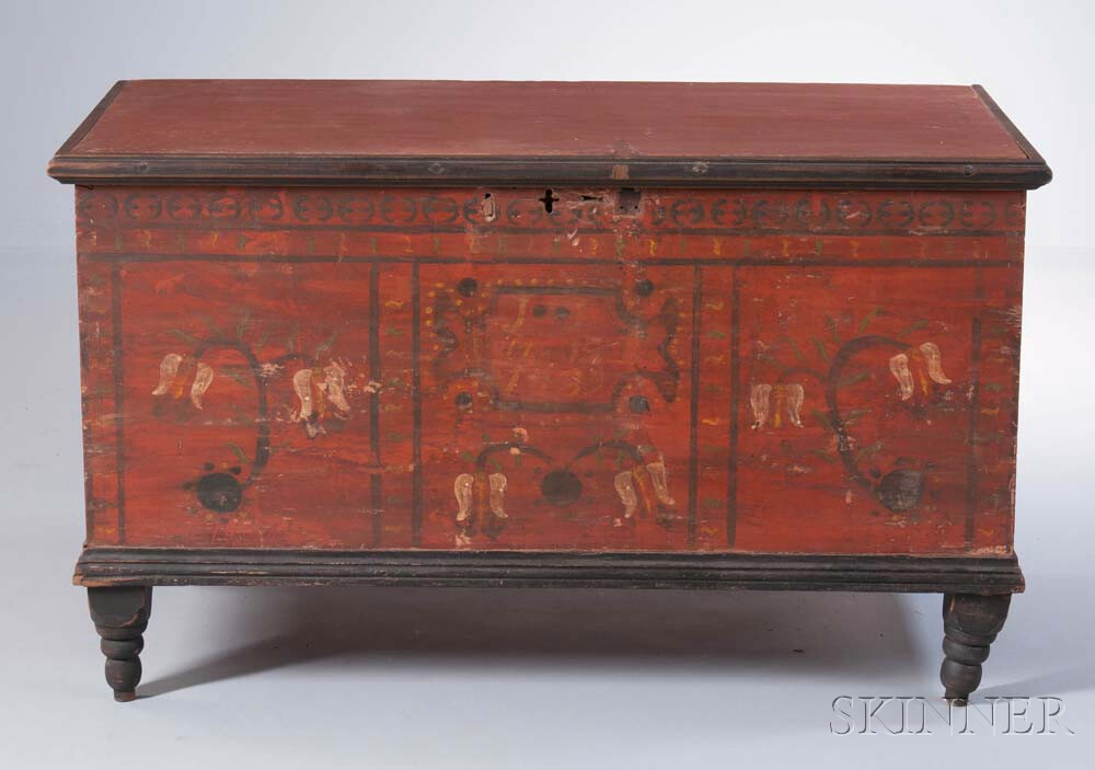 Paint-decorated Blanket Chest