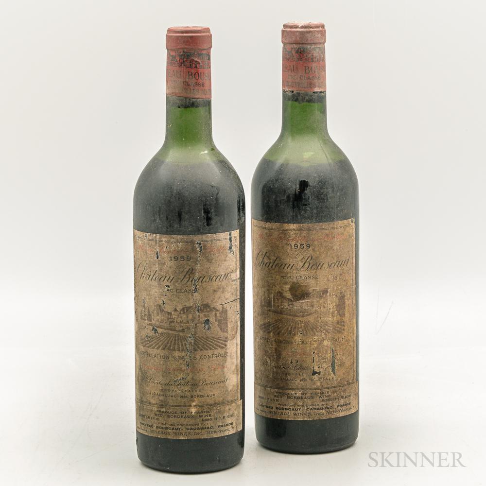 Chateau Bouscaut 1959, 2 bottles