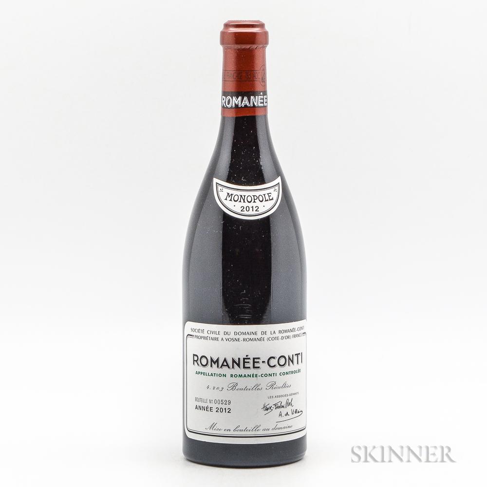 Domaine de la Romanee Conti Romanee Conti 2012, 1 bottle
