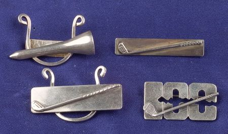 Three Sterling Silver Golf Pins, Leonore Doskcow